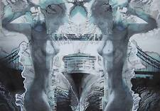 Tower Bridge / Nude / Original Watercoluor On Paper by Sergej Hahonin