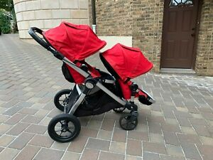 Baby jogger city select double stroller in red