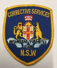 RARE Corrective Services N.S.W Police Embroidery Patch Badge / Sew On Patch