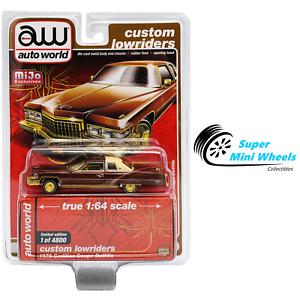 Auto World 1:64 Custom Lowriders 1976 Cadillac Coupe Deville Brown - Mijo