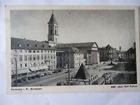Ansichtskarte Karlsruhe i. B. Marktplatz  (Nr.563)