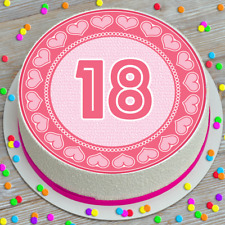 AGE 18 18TH BIRTHDAY PRECUT EDIBLE ICING CAKE TOPPER DECORATION 7.5 INCH BDC268