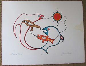JACKSON BEARDY 1944 - 1984 Woodlands artist signed & numbered SPIRITS OF DUALITY