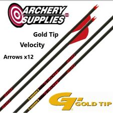 Gold Tip Velocity Arrows x12 - 400 Spine (Fletched)