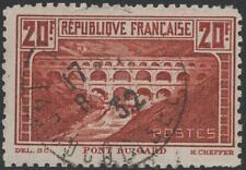 """FRANCE N° 262 B """"  PONT  DU  GARD  CHAUDRON  DENTELE 11 """"  OBLITERE  TB J724"""
