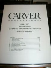 CARVER PM-1200 SERVICE MANUAL MINT ORG