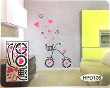 """Top Qualité """"Love My Bike"""" PVC cuisine mur porte meuble Stickers Art Decals"""