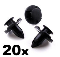 20x 8mm Plastic Rivet Trim Clips for Bumpers Splashguards Wheelarch Liner
