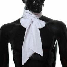 Medieval Men Long Regency Ascot Tie Renaissance Neckerchief Victorian Cravat