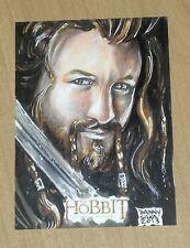 2014 Cryptozoic Hobbit Unexpected Journey LOTR SKETCH card Danny Silva 1/1