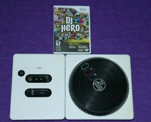NINTENDO WII WHITE DJ Hero Turntable Controller TESTED + DJ HERO GAME