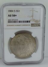 1884-S Morgan Silver Dollar NGC AU-58+