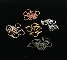 16 x 10 MM Lever Back W/ Open Ring,See Variations ( 5 Color Choose & Quantity )