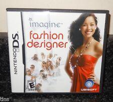 Imagine Fashion Designer Nintendo DS Game with Case & Booklet 2007 ~ SL