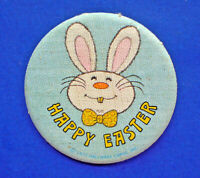 Hallmark BUTTON PIN Easter Vintage BARNABY BUNNY Rabbit Holiday PINBACK FABRIC
