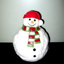Vintage Homco Home Interiors Holiday Snowman Cookie Jar