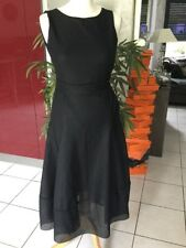 Robe de soirée résille MAJE taille 1 Soit 36/38 noire comme neuve 385€