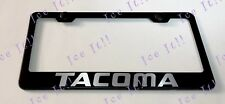 TACOMA TRD Stainless Steel Black License Plate Frame Rust Free Caps
