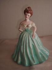 """FLORENCE CERAMICS  Lady Figurine LAVON in Aquamarine 8 1/2"""" VHTF"""