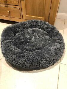 Pet Dog Cat Calming Bed Comfy Warm Fluffy Bed Nest Mattress Donut 80cm Diameter