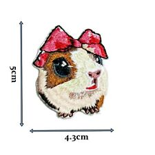Cute Hamster High Detail Iron On Patch Badge Patches Motif Embroirdered 456