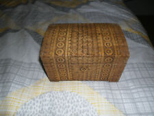 VINTAGE WOODEN TREASURE CHEST STORAGE JEWELLERY ,BOX