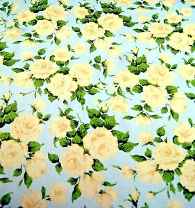 Liberty Belgravia Silk Satin fabric  Carline Rose - White