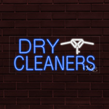 Brand New Dry Cleaners Withlogo 32x13x1 Inch Led Flex Indoor Sign 30228