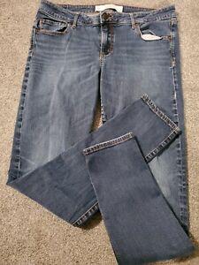 Abercrombie Skinny Stretch Dark Faded Blue Jeans Size 12 R