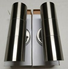 New 2x Up Down Cylinder Wall LED Outdoor Light 2*3W AC85-265V 6000K IP65 Blue-Wh