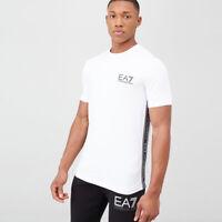 EA7 Emporio Armani Tape Logo T-Shirt - White