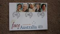 AUSTRALIAN FDC ALPHA STAMP ISSUE FIRST DAY COVER, 2000 FACE OF AUSTRALIA 5