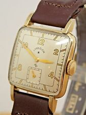 Vintage Serviced Lord Elgin Gents 21 jewel 10K rolled gold plate wrist watch