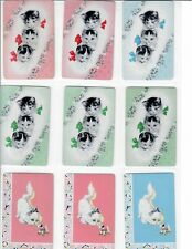 9 Single Vintage Swap Playing Cards - Wee Three, Kittens, Toy Dog