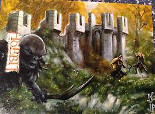 The Hobbit Desolation of Smaug Sketch Card by Jason Potratz & Jack Hai