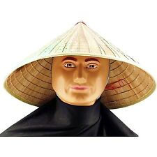 Chinese Straw Bell Coolie Comical Amish Accessory Sun-Shade Japanese Hat New!