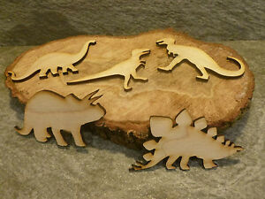 10x Wooden Dinosaur craft blanks
