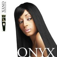 "ONYX Black Diamond 100% Human Hair Natural Essence Yaki Weave Extension 8"" ~ 18"""