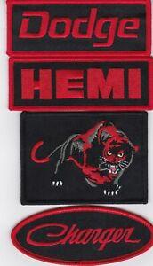 DODGE HEMI CHARGER BLACK RED SEW/IRON ON PATCH MOPAR SRT DEMON HELLCAT 345 392