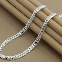 5mm Mens Womens Stainless Steel Silver Twist Curb Link Chain Necklace  New