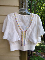 Floreat Anthropologie Hippie Boho Blouse Top Shirt Festival Women's Size Small -