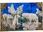 Vintage 57x39 Polar Bear Tapestry