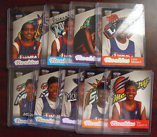 Lot of 9 1999 Fleer Ultra WNBA Different Rookie Cards LOOK