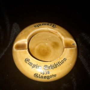 POSSIL POTTERY  Empire Exhibition Glasgow  1938  ashtray  Tennent's Lager