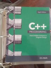 C++ Programming: From Problem Analysis to Program Design, Loose-Leaf 8th Edition