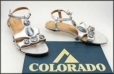 COLORADO WOMEN'S LOW HEELS STRAPPY OPEN-TOE FASHION SANDALS SHOES SIZE 7