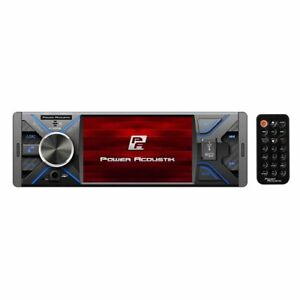 Power Acoustik PL430HB 4.3 Single DIN MECHLESS Fixed Face Receiver w/BT & Remote