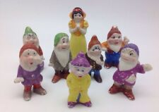Walt Disney Snow White And Seven Dwarfs Bisque Vintage Japan Figures