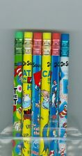 The cat in the hat bright colored pencils. Set of 6!