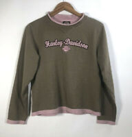 Harley Davidson Women's Size Small sweatshirt Brown/ Pink Naples Florida
